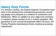 Heavy Duty Paving Forms