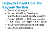 Paving Form Hole Locations