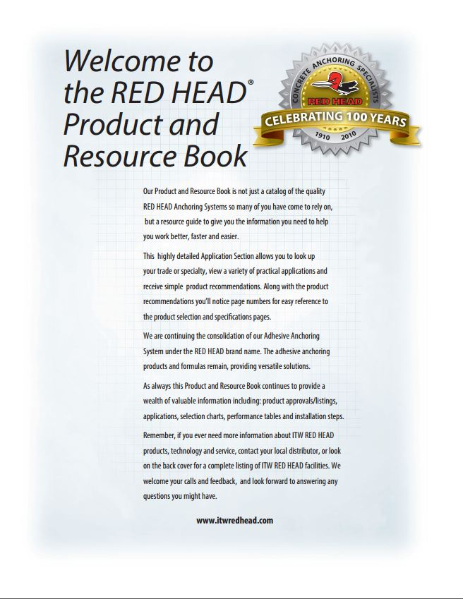 Red Head Product Catalog