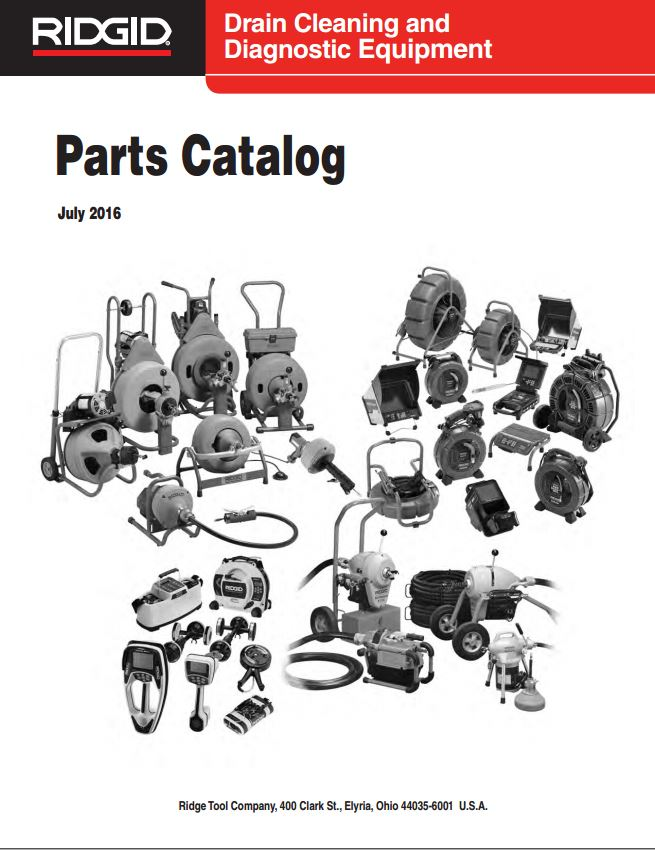Ridgid Drain Cleaning Parts Catalog