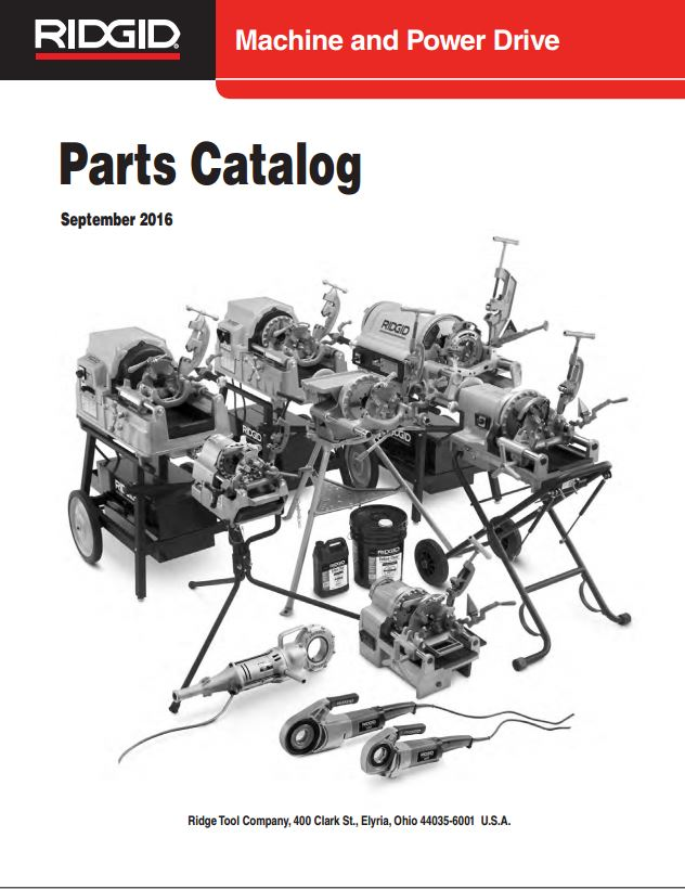 Ridgid Power Machine Equipment Catalog