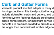 CURB Gutter Forms