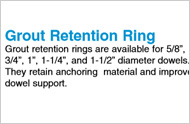 Grout Retention Rings